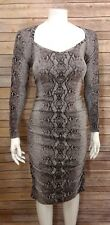 Moda International Victoria Secret Womens Sexy Bodycon Dress Sz. L Animal Print