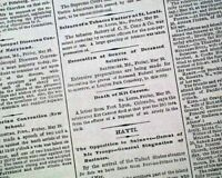 Very 1st First MEMORIAL DAY Holiday Frontiersman Kit Carson Death 1868 Newspaper