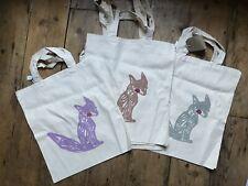 Hand Silk Screen Printed Fox Shopper Bag Canvas