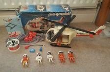 Rare Vintage 1987 Boxed PLAYMOBIL 3789 Rescue SOS Ambulance Helicopter Coast Set