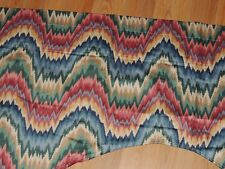 WAVERLY FORD FLAMESTITCH SCALLOPED VALANCE MULTI COLOR 76 X 24