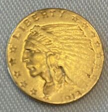 1913 $2.50 Dollar United States Indian Head Quarter Eagle Gold Coin