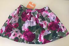 GYMBOREE 4 4T PLUM PONY NEW NWT Summer Fall Skirt Flowers green Burgundy