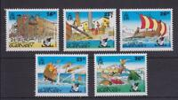 GUERNSEY 1992 THE ADVENTURES OF ASTERIX STAMP SET MNH SG 583-587