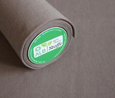 Albstoffe Bio Bündchen griglio londra (taupe, grau-braun)   - Bündchenstoff