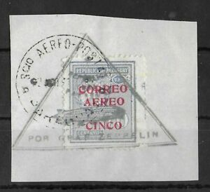 PARAGUAY 1931 Used on Paper Graf Zeppelin Airmail 5 C OVP Unchecked