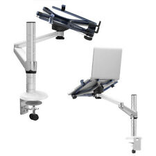 Aluminum Alloy 2 In 1 Tablet Pc + Laptop Stand Holder Rotatable Arm Clamp Mount