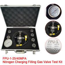 New ListingHydraulic Accumulator Pressure Test Kit Nitrogen Charging Fill Gas Valve Kit New