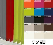 QUALITY MADE TO MEASURE BLACKOUT VERTICAL BLINDS DARK GREY PLUS MANY COLOURS