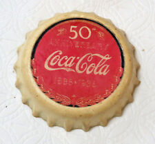 1996 The Coca-Cola Co Collectible Magnet 50th Anniversary bottle cap pre owned