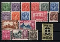 P131518/ ST LUCIA STAMPS / BRITISH COLONY / SG # 128 / 141 MH COMPLETE - CV 116