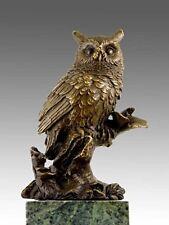 Lebensechte Künstler Tier Bronze DIE EULE signiert MILO