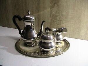 servizio tè caffè in argento 800