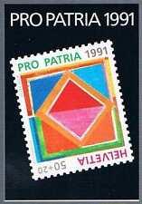 Suisse - carnet pro patria 1991 mi mh90**