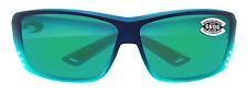 Costa Del Mar cat cay matte caribbean fade frame green mirror 580G glass lens