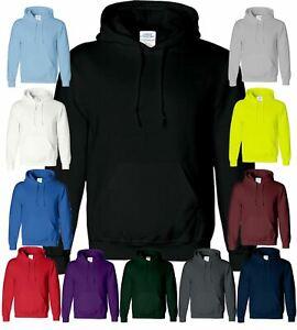 New Unisex Heavy Hoodies Plain Mens Hooded Pullover Sweatshirt Hoody SNS APPAREL