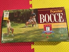 """Forster Bocce 4"""" Ball Competitor Series # 6200 Complete In Box Made In USA Mint"""