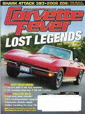 Corvette Fever Magazine Aug 2005 Issue Lost Legends 5 Vettes Found in a Barn