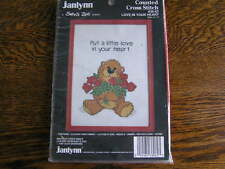 1987 Janlynn Suzy's Zoo Counted Cross Stitch Kit #38-62 LOVE in YOUR HEART~~NIP!