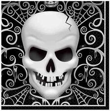 16 FRIGHT NIGHT LIBRO Partito Tovaglioli halloween teschi scheletri Stoviglie libero PP
