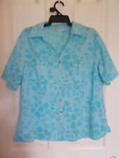Blue Buttoned Blouse, Size approx. 16
