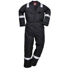 """Portwest NX50 Nomex Comfort Coverall XSmall 32 to 34"""" Chest Black"""