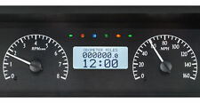 1977-90 Chevy Impala/Caprice VHX System, Black Alloy Style Face, White Display