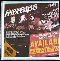 CORNERSTONE MIXTAPE #46 DEC. 2002 3X CD MIXED PROMO CLINTON SPARKS, DJ EVIL DEE
