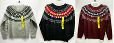 Weatherproof Vintage Women's Crewneck Fairisle Long Sleeve Sweater - NWT