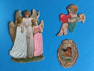 alte Oblaten, Glanzbilder: Engel
