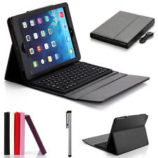 Wirelesss Bluetooth Keyboard + Leather Case Cover with Stand for iPad Air 2