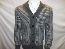 ITALY Men Filippo Novelli V neck Sz S Button Down Italy Wool Sweater NWT Small