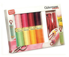 734565 Gutermann Sew-All Sewing thread Set 100m X10 reels &10 Prym bobbins clips