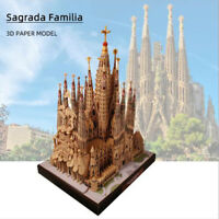 Spanish Cathedral Sagrada Familia 3D Paper Model Architecture DIY Model_wkA8A