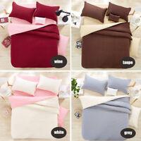 New Single 3pcs KS Double 4pcs Queen King Size Bed Quilt/Doona/Duvet Cover Sets