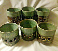 "Lot Of (6) Vintage Ceramic Somayaki Ware 3 1/2"" cups"