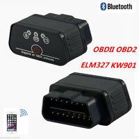 KW901 ELM327 OBD2 OBDII Bluetooth Car Fault Diagnostic Scanner Tool For Android