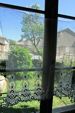 Splendido ANTICO FRANCESE ART DECO BELLE Net spessa in rilievo SETA Pannello Decor C1930