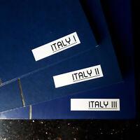 """BRIEFMARKENSAMMLUNG  """"ITALY ITALIA""""   grosse Sammlung in 3 Alben TOP"""