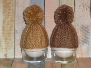new hand knitted egg cosy/cozy set of 2