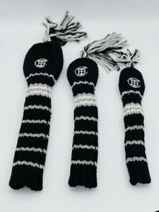 The Buck Club Fore Ewe Black And Silver Knit Fairway Headcover