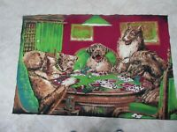 """Vintage Tapestry Dogs Playing Poker Wall Hanging Decor Man Cave 4' X 32"""""""