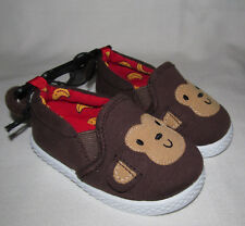 New Brown Monkey Slip On Loafers Shoes Slippers Toddler Girls Boys Size 5