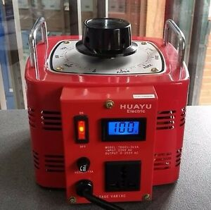 5 Amp Variac Variable Transformer 1000VA Max 0-240 AC Volt Output regulator New