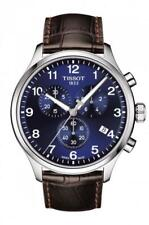 TISSOT Chrono XL Classic Blue Dial Leather Band Men's Watch T116.617.16.047.00