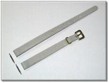 schmales Vintage Leder Uhrenarmband hellgrau 8mm breit, 1,5mm dick, (859)