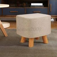 Vanity Soft Furry Ottoman Nursery Wooden Step Stool Padded Seat Foot Rest ➟