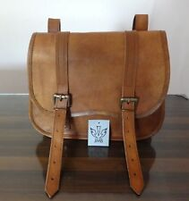 1Side Pouch Brown Leather Motorcycle Pouch Saddlebags Saddle 1 Bag Panniers