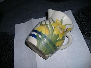 Roseville, O, USA Signed Spring Flowered Pitchers 5 inches tall