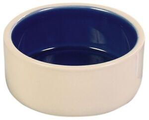 Trixie Quality Ceramic Dog Bowls -  Blue & Cream -  Food / Water Bowl - 3 Sizes